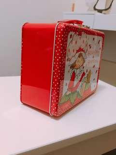 🚚 紅色草莓手提鐵盒