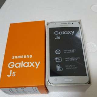 Galaxy j5 new 16gb and power back free