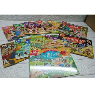 台灣到港  現貨 平均$6.5本 📣格林童話貼紙書:全彩色設計🉐全套12本 一套多達 1776張貼紙🎊, 可重複貼😍