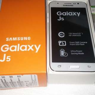Galaxy j5 New 16gb.  Power back free