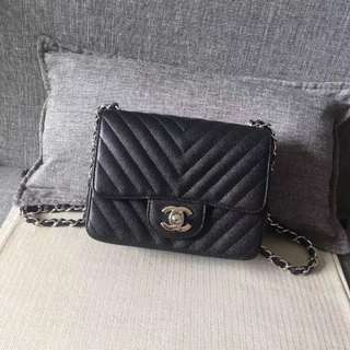 Chanel Mini Chevron Flap
