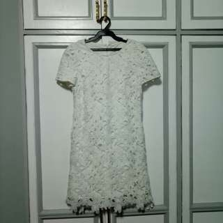 Laced Dress White