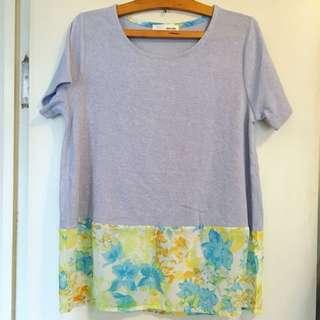 現貨🌈氣質花邊上衣floral print top