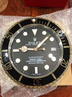 Rolex Submariner Half Gold Clock