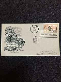 US 1962 Battle of Shiloh FDC Stamp