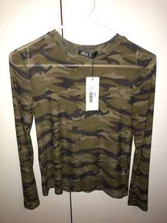 Sheer Camo long sleeve