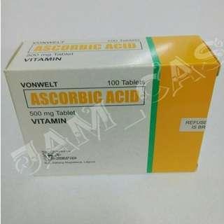 Ascorbic Acid 500mg 100 tablets