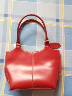 Wilsons Leather Red Tote Bag