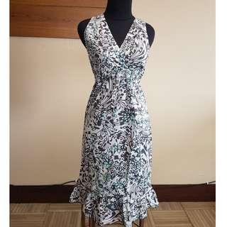 White Pattern Summer Dress