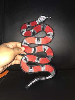Large iron on patch , Gucci snake edition. Ideal for bag, shirt and etc