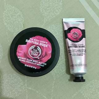 British Rose hand cream & body butter
