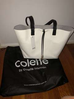 Colette White Leather Bag
