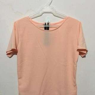 Zipback blouse