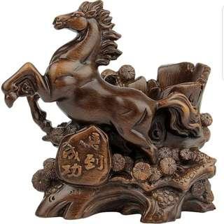 【禮贊精品文物館·午馬·馬到成功】木雕仿木12生肖午馬天干地支典藏文物意境開運招財擺設居家生活美化環境