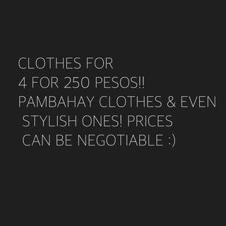 AFFORDABLE CLOTHES