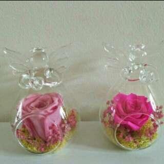 Preserved rose Angel glass jar #easter20