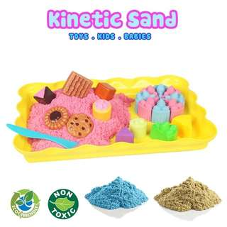 Kinetic sand play safe kids