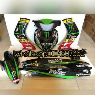 COVERSET YAMAHA LC V1 MONSTER ENERGY SEMAKIN DI DEPAN 2018