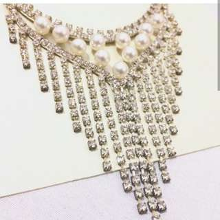 V Type Necklace and Earrings (Free Shipping)