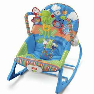FISHER PRICE BABY ROCKER 2IN1 (pink and blue)