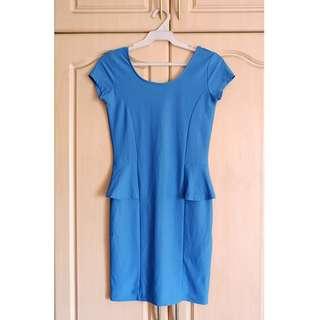 Blue Green Bodycon Dress