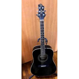 (Solid Top Dreadnought) Greg Bennett Acoustic Guitar + Padded Guitar Bag and Pick