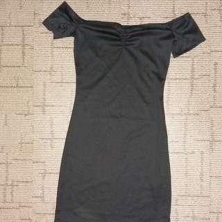 H&M Off Shoulder Little Black Dress