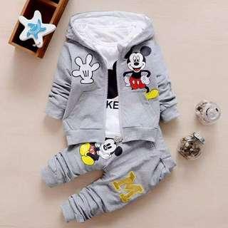 Baby Clothing- Jacket + Long Sleeve T Shirt + Long Pants
