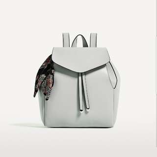 ZARA BACKPACK WITH SCARF