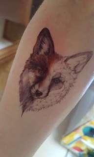 FOX TEMPORARY TATTOO