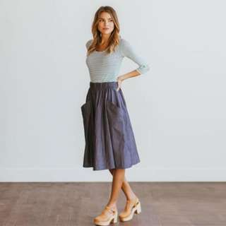 Terno (Top+Garter Denim Skirt)