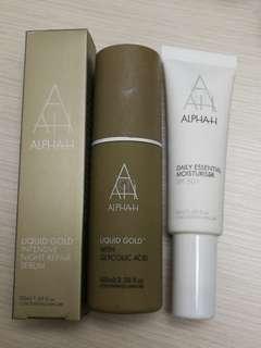 Alpha H liquid gold, serum and moisturiser