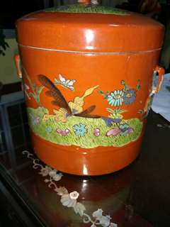 清末珊瑚红罐-供赏