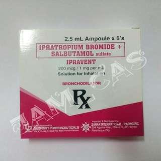 Ipratropium + Salbutamol 5's (Generic name of Combivent)