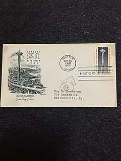 US 1962 Seattle Expo FDC Stamp