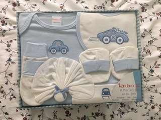 Infant baby boy gift set 6+1 piece