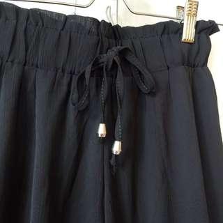 100%new黑色闊褲