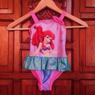 Used Once Disney Princess Baby Girl Pink Swimsuit