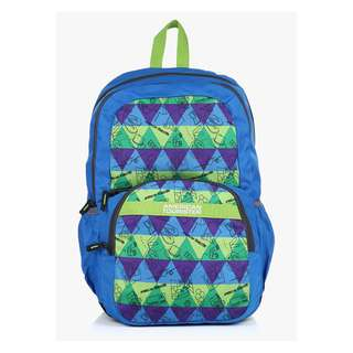 American Tourister by Samsonite Large Unisex Backpack -Blue/ green -travel : SUPER SALE! (Converted SRP of 3,109Php + )