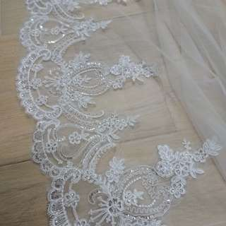 3m long wedding veil 3米長結婚頭紗