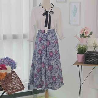 🍿 Vintage Midi Skirt VS1044
