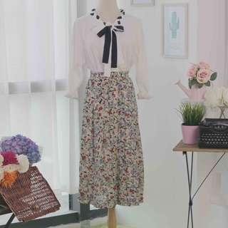 🍿 Vintage Midi Skirt VS1046