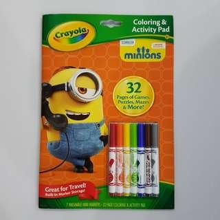 Crayola Minions Colouring & Activity Pad
