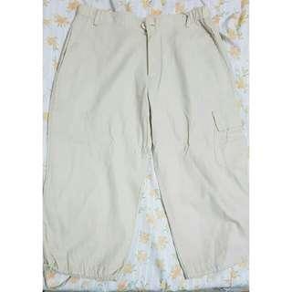 Khaki Loose Pants