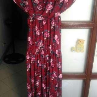 Plus size + Off shoulder maxi long dress