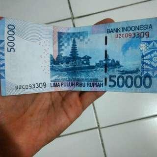 Rp 50.000 nomor seri mantap 093309