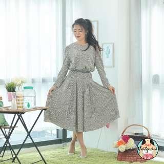 🍿 Vintage Midi Dress VD1228
