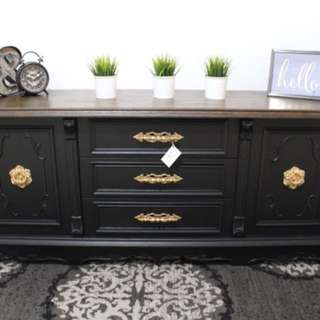 STUNNING DRESSER/CREDENZA (NEWLY REFINISHED)