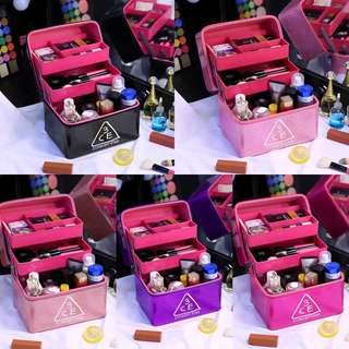 Large capacity cosmetic case cosmetic storage bag water repellent Korea portable large portable cosmetic bag professional multilayer