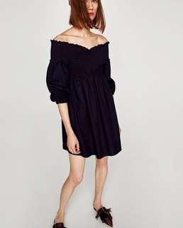 ZARA • NWT Poplin Dress